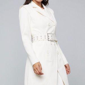 Bebe Knit Sleeve Trench Coat